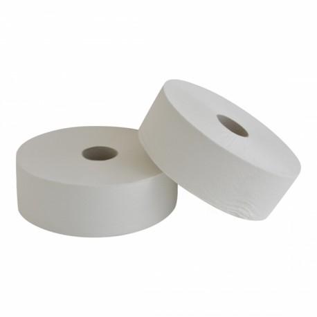 Toiletpapier Jumbo maxi 2-lgs wit embossed