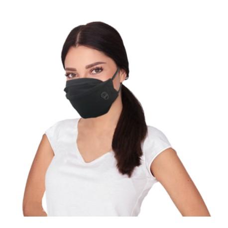 Ribcap herbruikbaar mondmasker, 2-lgs, zwart S